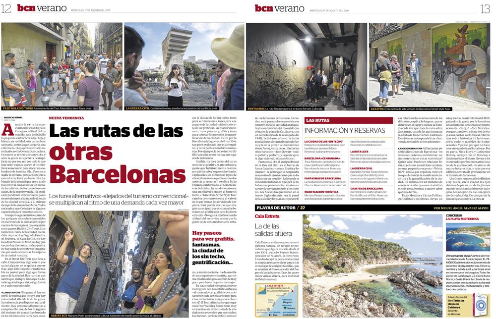 Artículo sobre rutas culturales alternativasen Barcelona